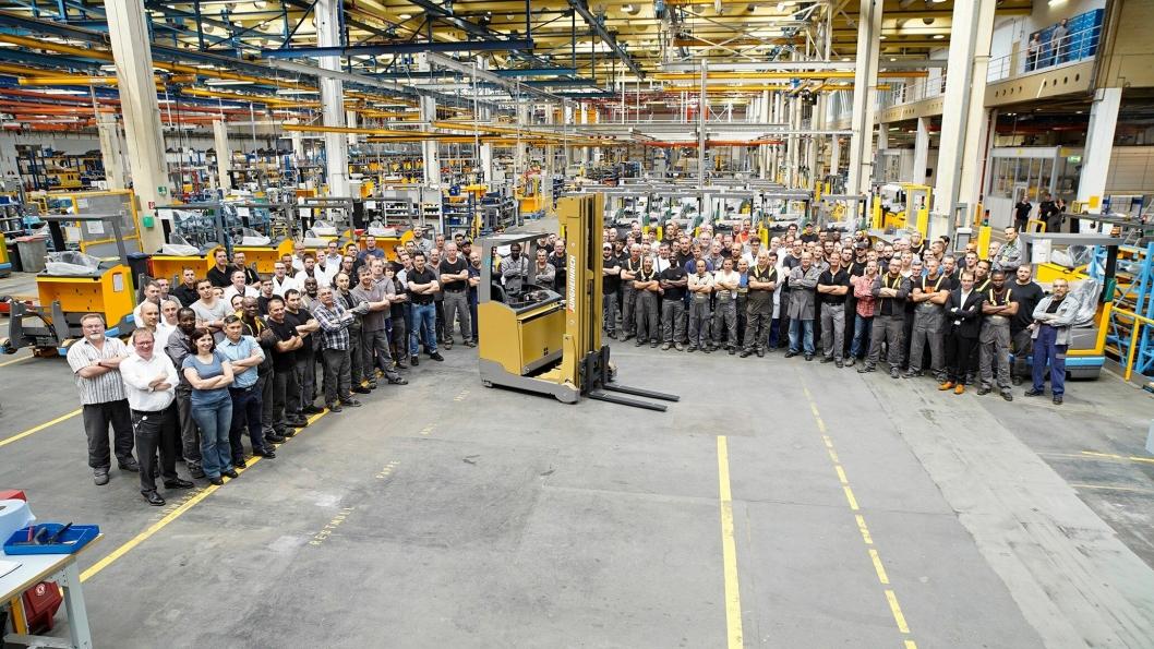 50-årsjubileet ble markert med avdukingen av fabrikkens truck nummer én million.