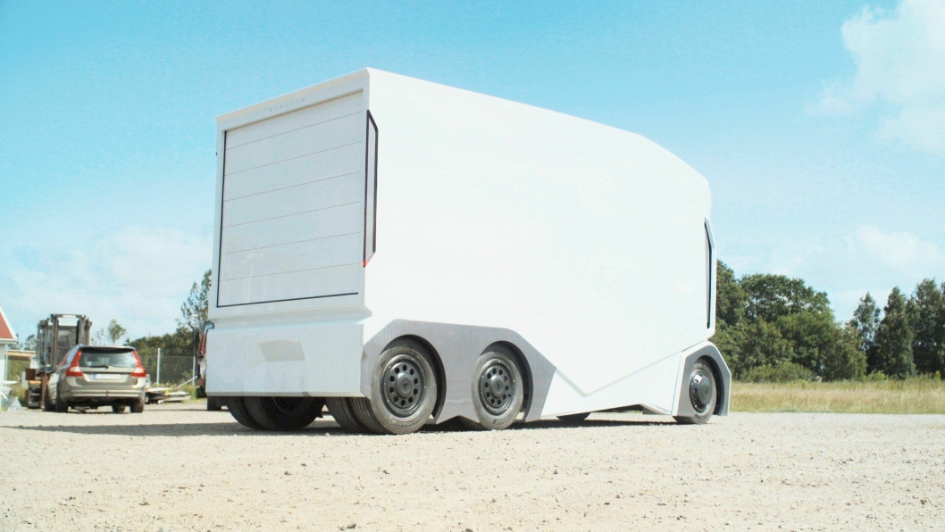 NETT: 7 meter lange T-pod er mer som en stor varebil å regne enn en lastebil, men kan ta over dobbelt så mange paller som en stor Mercedes Sprinter. Foto: Einride