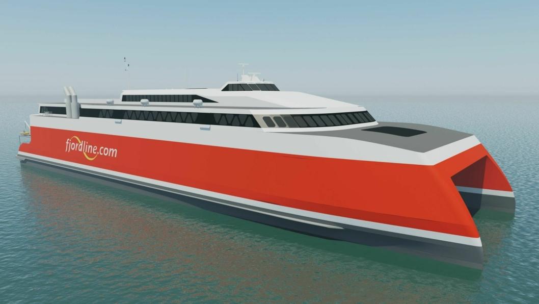 Fjord Lines nye skip nesten dobler kapasiteten på strekningen Kristiansand-Hirtshals.