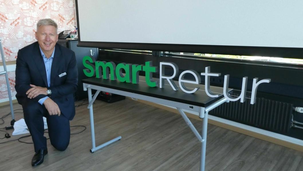 Administrerende direktør Søren Eriksen i Smart Retur presenterte det nye navnet under et seminar i Oslo denne uken.