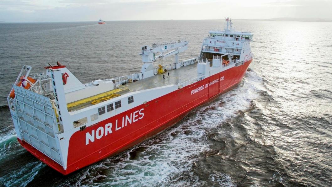 Ruten Nor Lines har fått støtte til skal betjenes av LNG-skipet Kvitbjørn og søsterskipet Kvitnos.