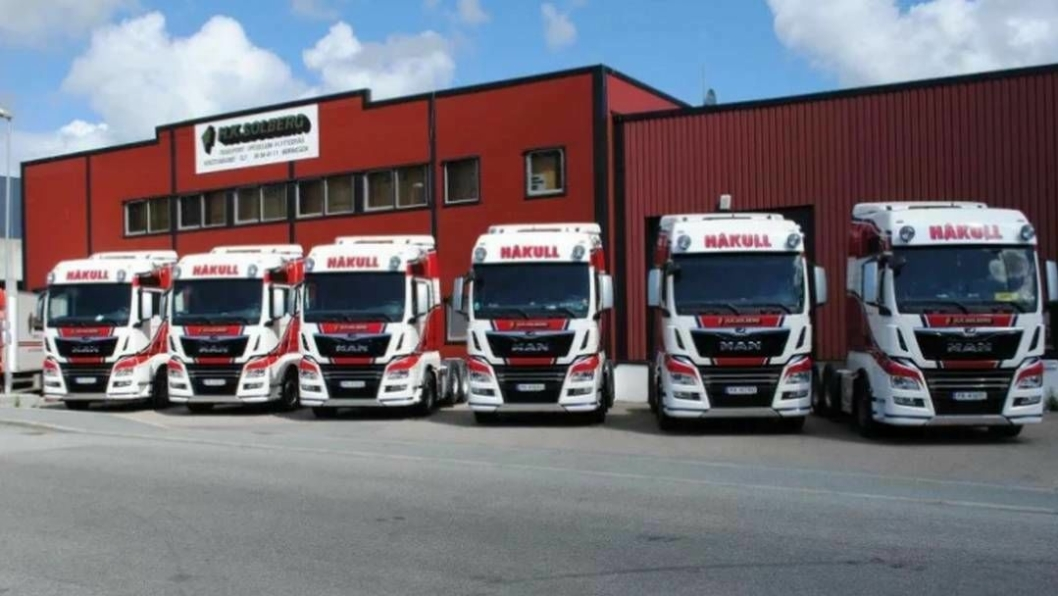 De nye bilene til H. K. Solberg Transport AS skal gå i internasjonal transport for Håkull.