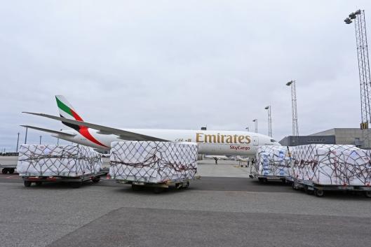 11. oktober i fjor startet også Emirates SkyCargo opp med rene fraktflyvinger fra Oslo Lufthavn.