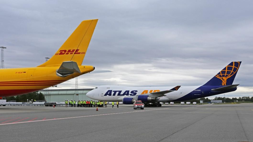 PARTNER: DHL leier en 747-maskin fra Atlas Air til flygningene.