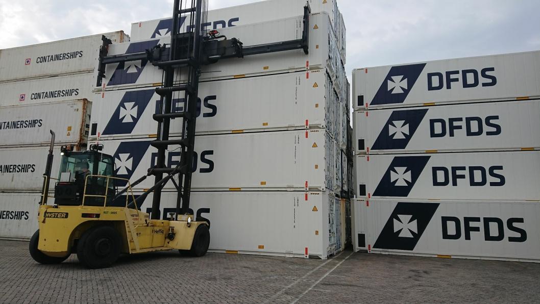 DFDS har utvidet sin flåte av store kjøle- og frysecontainere.