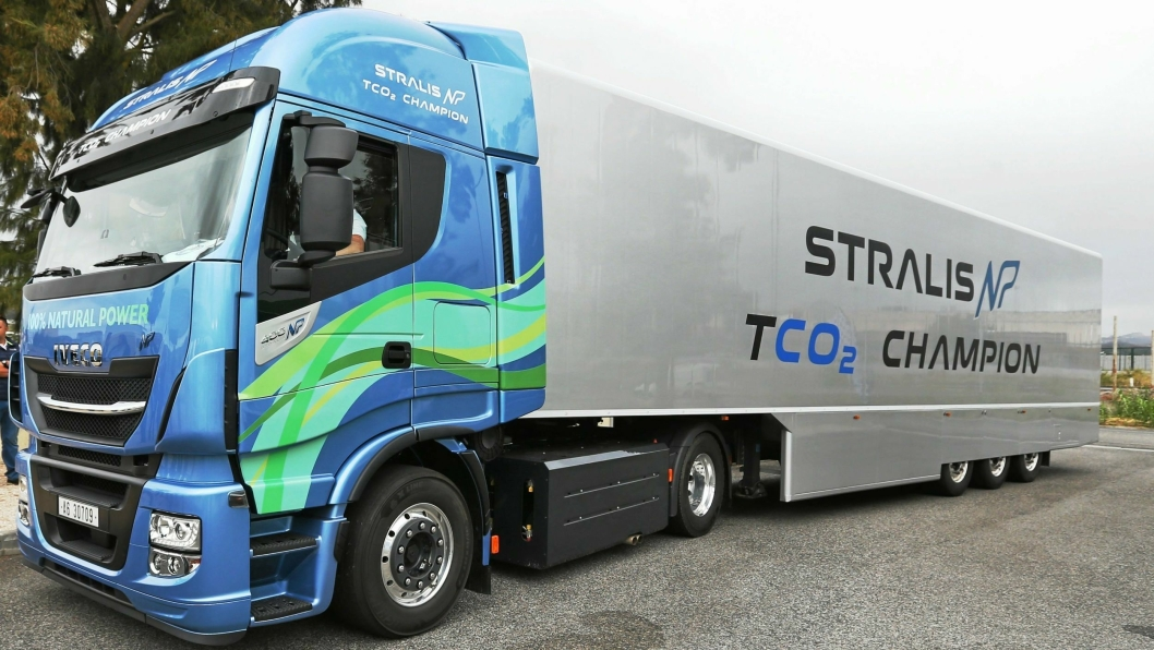 Iveco Stralis NP AS440S40T/P, utstyrt med en Iveco Cursor 9 LNG/CNG naturgass-motor.