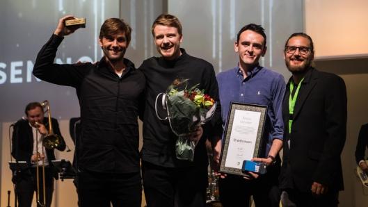 Brødboksen.no - Årets veiviser. Fra venstre.: Arnulf Refsnes, Mats Nordeidet, Sebastian Jennings Almnes og Steffen Westbye.