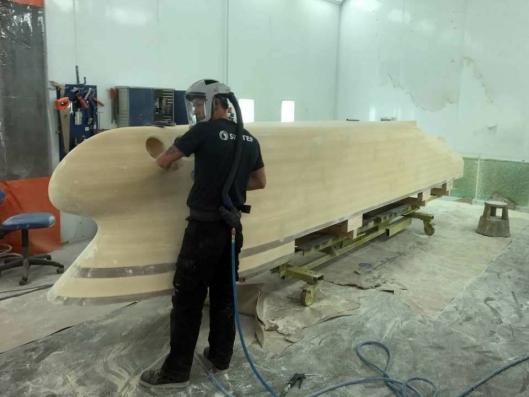 Her er modellen som ble testet Trondheim under bygging. Kontrakt på bygging av selve skipet skal etter planen skrives senere i år.