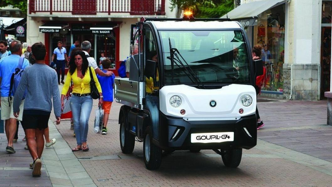Modellen G4 har 1,2 tonn nyttelast og rekkevidde på 135 km pr. ladning. Multimaskin viser denne på Park og Anleggsmessen på Lillestrøm 8.-9. november.