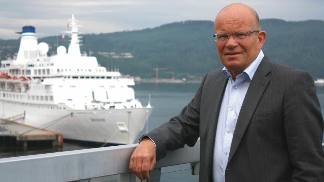 Wollert Krohn-Hansen sitter igjen ved roret i Trondheim Havn.