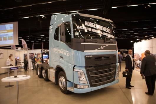 Volvo Trucks har Norgespremiere på sin gass-lastebil på Gardermoen.