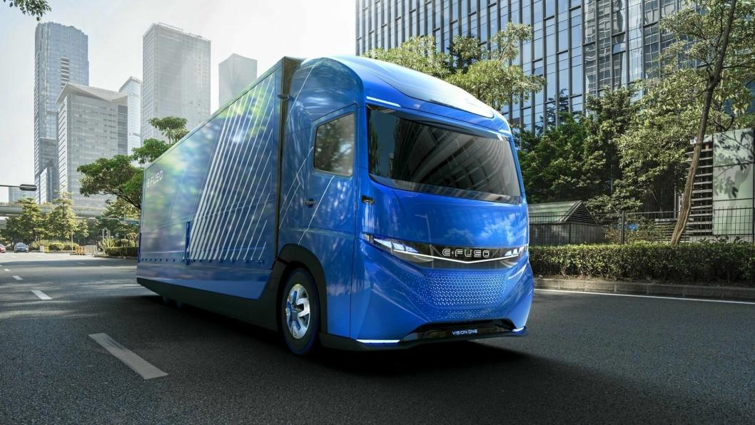E-FUSO Vision One skal kunne frakte 11 tonn 350 km på én lading.