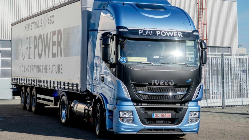 STOR GASS: Iveco har begynt å levere en 13-liters gassmotor på 460 hestekrefter og 2000 Nm.