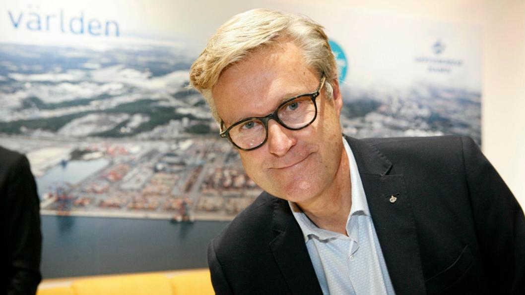 Vi traff Göteborg Hamns VD Magnus Kårestedt på Nordens ledende messe og konferanse for transport- og logistikkløsninger, Transport og Logistik 2017 i Göteborg. Foto: Per Dagfinn Wolden