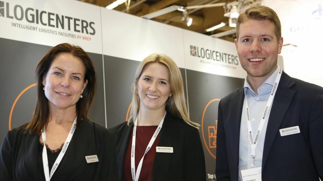 Lars Christian Andrésen hadde med seg blant andre kollegene Eva Sterner (t.v.) og Emma Reuterdahl på Logistik & Transport-messen i Göteborg. Foto: Per Dagfinn Wolden
