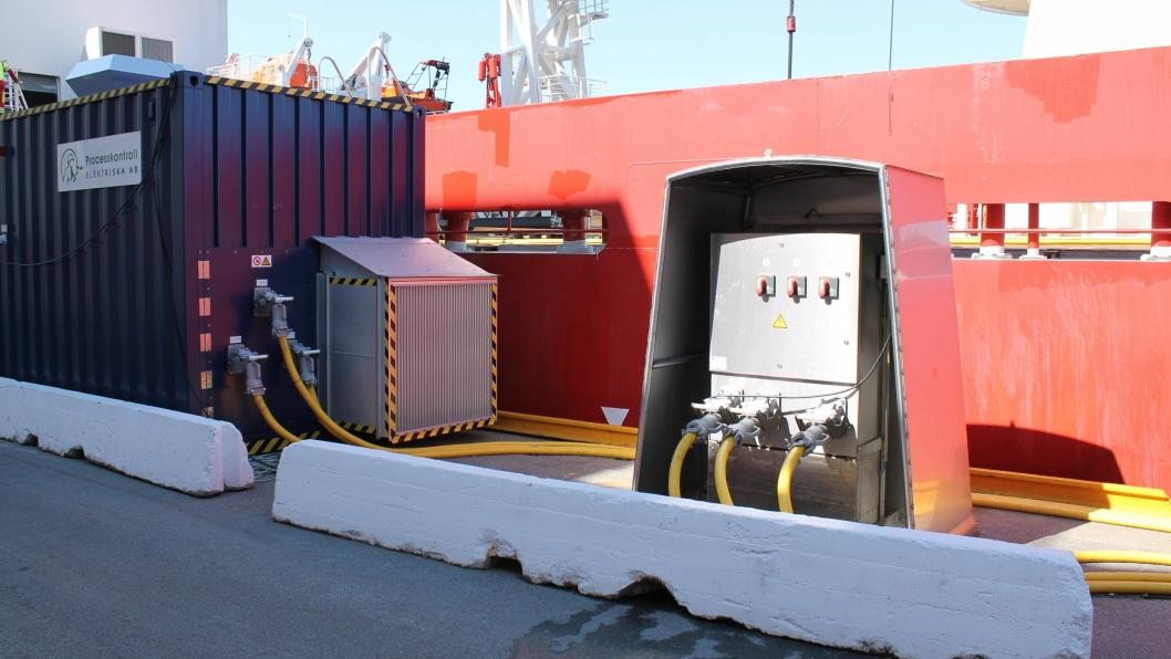 Mobilt landstrømanlegg i Kristiansand havn, som har fått støtte tidligere.