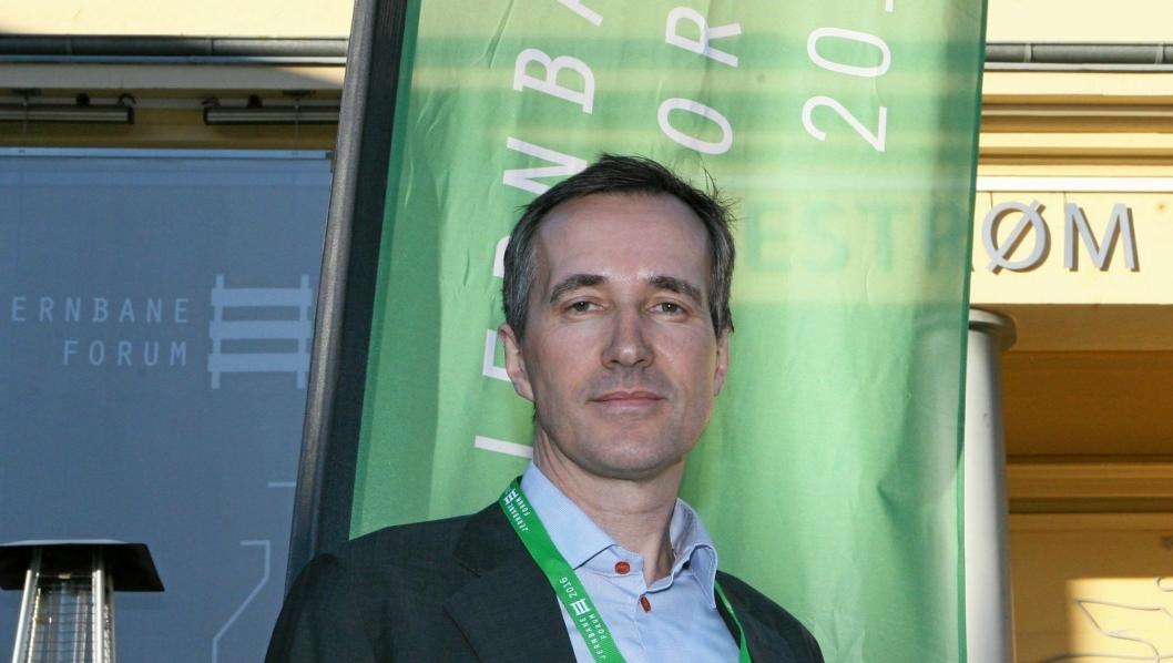Jan Kilström, vd i Green Cargo, ber om opprustning av jernbanenettet. Foto: Per Dagfinn Wolden