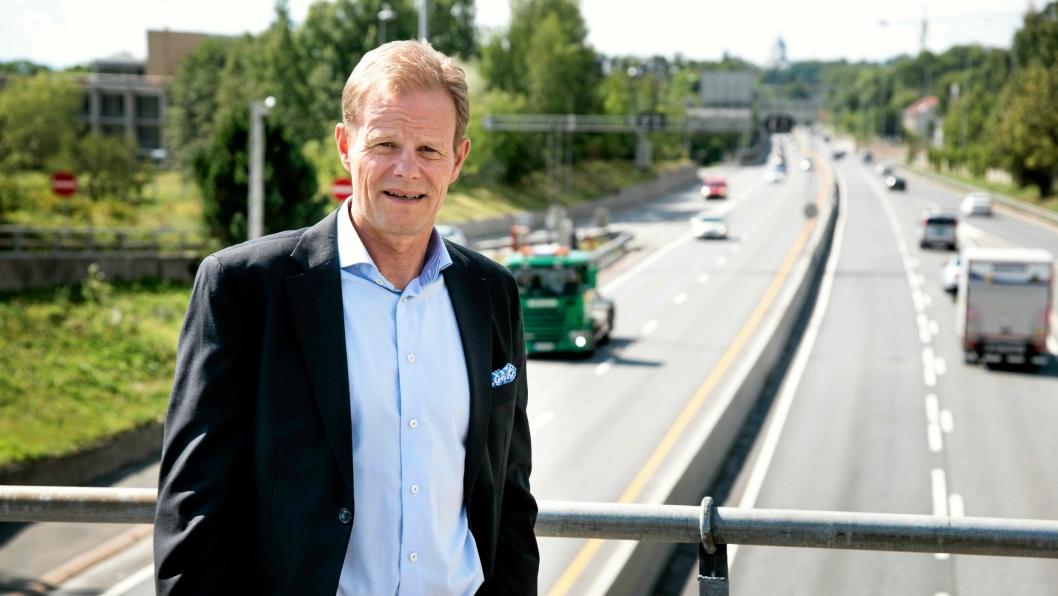 Adm. direktør Are Kjensli i NHO Logistikk og Transport er godt fornøyd med den blå-grønne regjeringsplattformen..