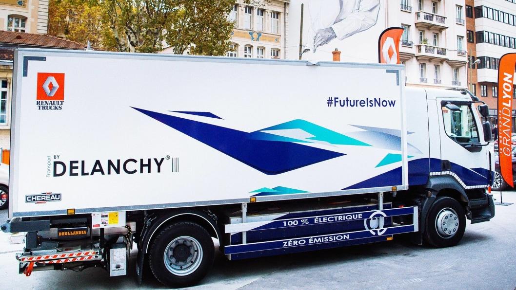 Delanchy har vært med på å teste elektriske lastebiler for Renault Trucks. Foto: Renault Trucks