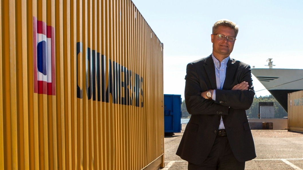Kari-Pekka Laaksonen, konsernsjef i Containerships, gleder seg til å samarbeide med Viasea på ny Oslo-rute.