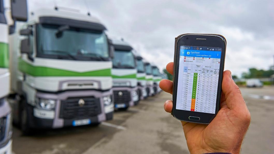Renault Trucks Optifleet er nå kommet i mobil-versjon.