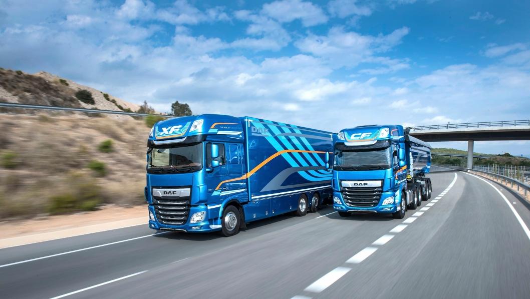 HØY FART: DAF ble kåret til «International Truck of the Year 2018» og kan se tilbake på på et meget godt 2017-år.