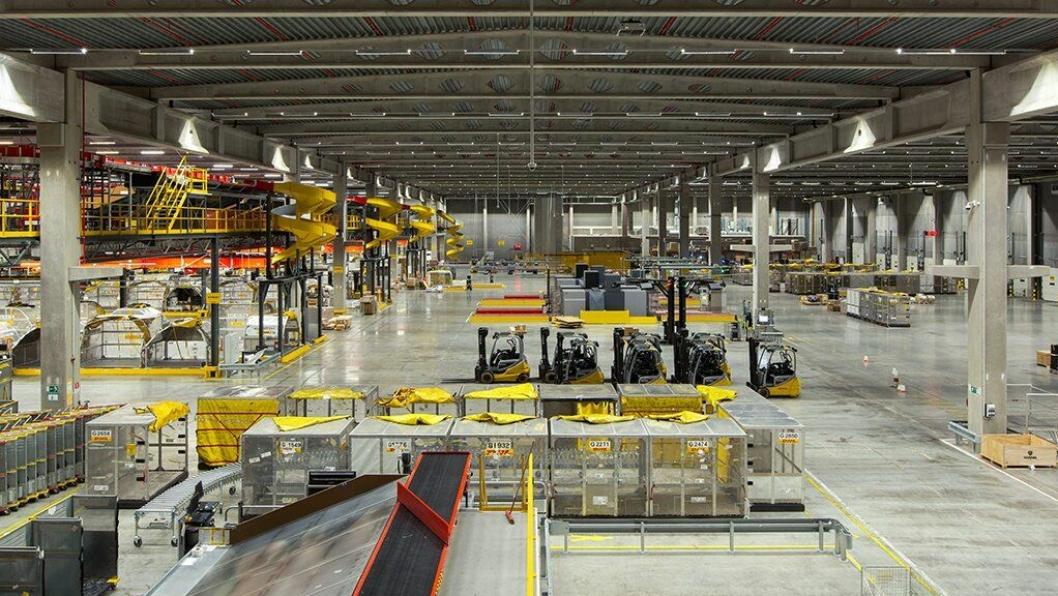 Anlegget er på 36.000 kvadratmeter og blir DHLs femte største.