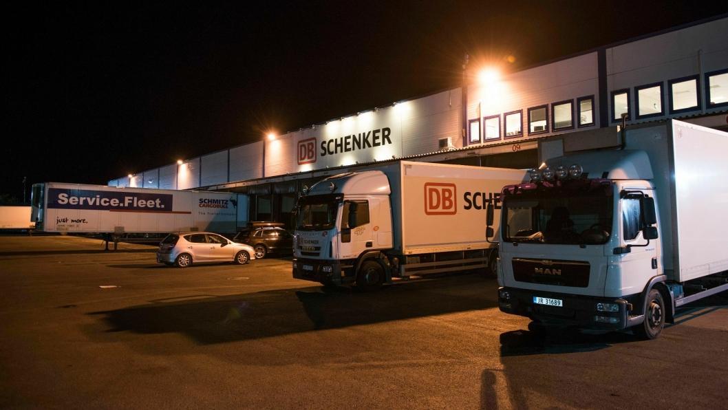 DB Schenker er blant bedriftene som rammes hardt av en eventuell streik.