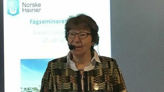 Oslo-ordfører Marianne Borgen (SV) åpnet Norske Havners Faggruppeseminar 2018. Foto: Oslo Havn KF.