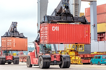 Volumvekst - men containere noe ned