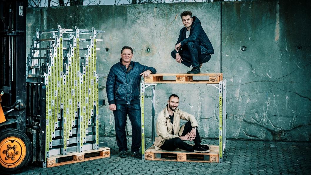 """SpaceInvader partners: Fra venstre, Steen Frederiksen - CEO, """"toppalle"""": Jesper Rølund - Founder SpaceInvader, """"bundpalle"""": Mads Klie-Holde - """"Operations""""."""