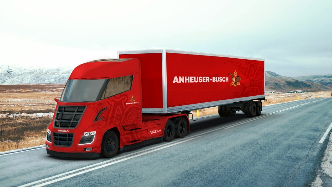 Nikola Motor Company har sendt ut dette bildet av en Nikola Two i forbindelse med offentliggjøringen av den store bestillingen.