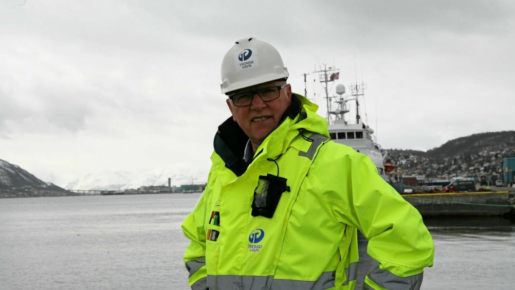 Halvar Pettersen kan få avløsning som havnedirektør i Tromsø allerede før sommerferien. Foto: Per Dagfinn Wolden