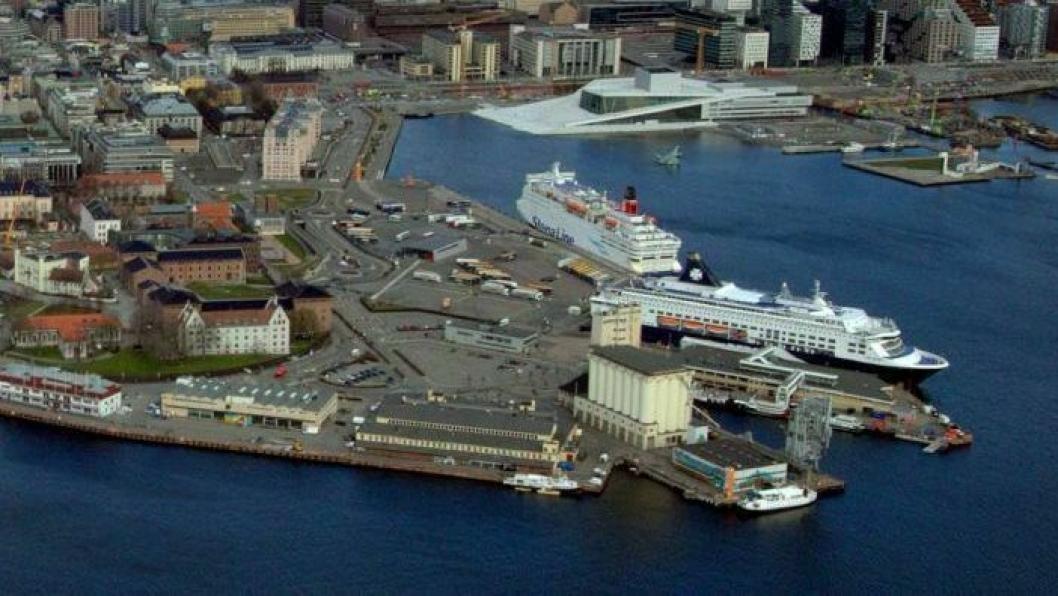 Oslo Havn gjør tiltak for å gjøre hovedstaden renere. Flyfoto: Oslo Havn.