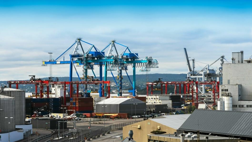 Yilport i Oslo er svært fornøyd med en  økningen av containere til og fra Europa i løpet av årets første fire måneder. Foto: Oslo Havn.