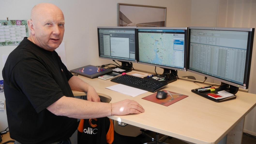 Med et hundretalls enheter å holde styr på, er Kristian Bergli i ColliCare glad for oversikten fra Track Norge gir.