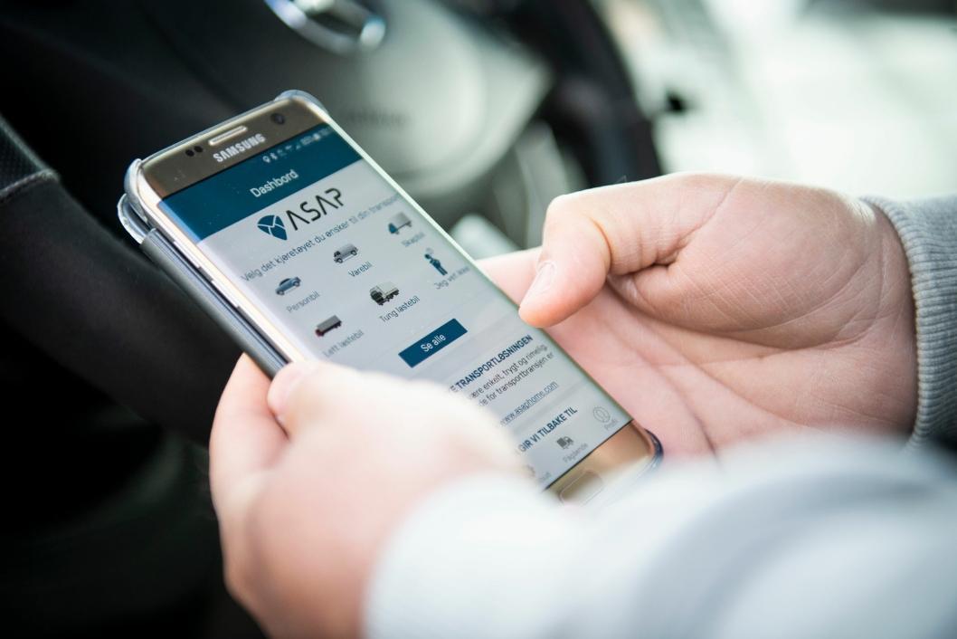 Med noen enkle tastetrykk kan hvem som helst bestille transport av nær sagt hva som helst via ASAP-appen.