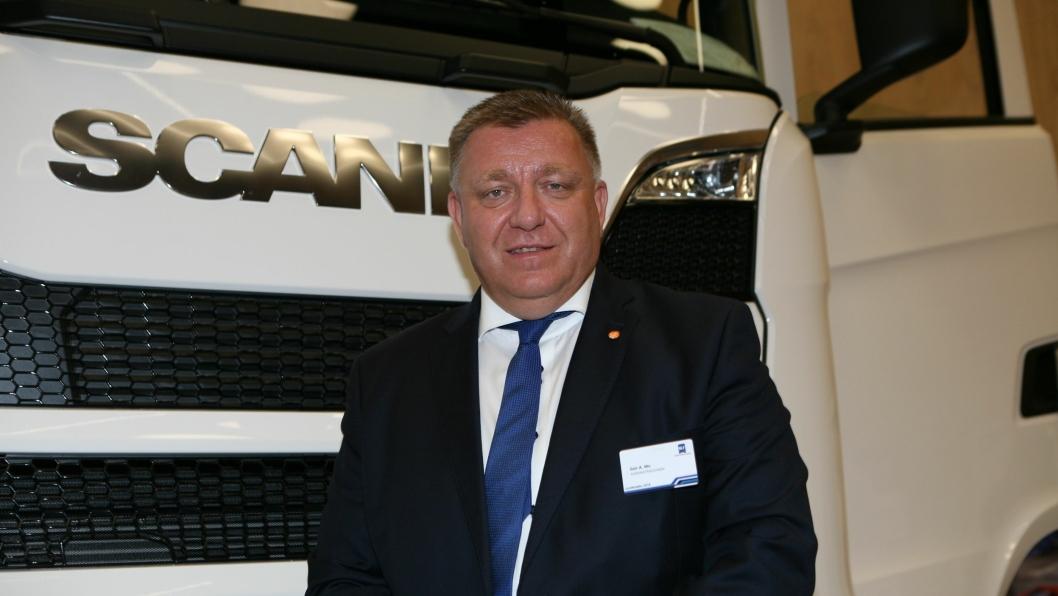– Det hjelper lite å kjempe for lastebilnæringen hvis vi ikke får rekruttert sjåfører, understreker adm. direktør Geir A. Mo i NLF. Foto: Per Dagfinn Wolden