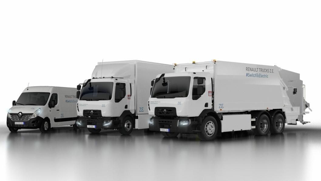 Renault Master Z.E., Renault Trucks D Z.E. og Renault Trucks D Wide Z.E., en elektrisk serie fra 3,5 til 26 tonn for bruk i byen.
