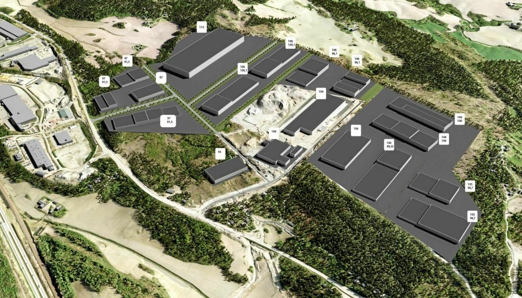 Vestby Næringspark Øst er et stort, nytt lagerområde i Vestby. Her kommer det nye Ikea-lageret.