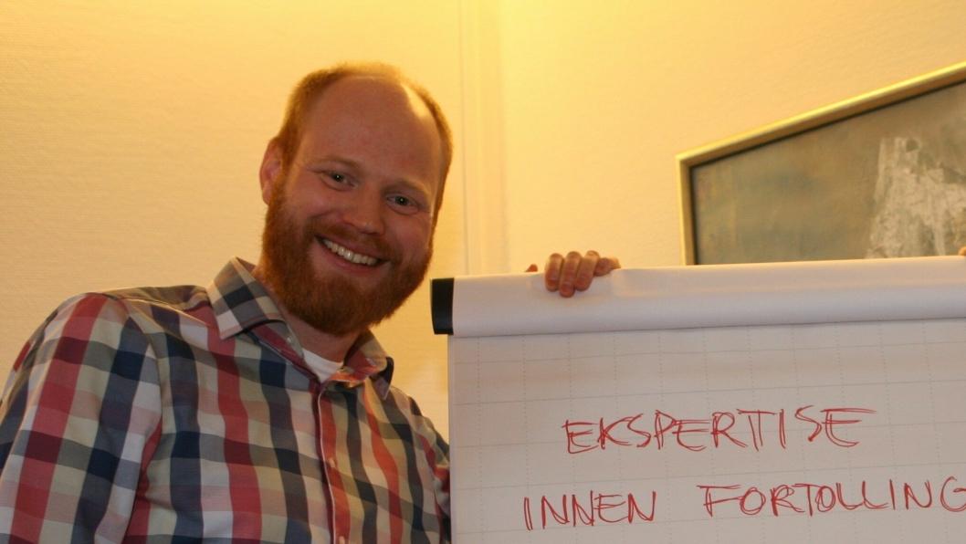 Harald Halvorsen d.y. i Harald Halvorsen Spedisjon AS forteller at speditørene er viktigere enn noen sinne. (Foto: Per Dagfinn Wolden)