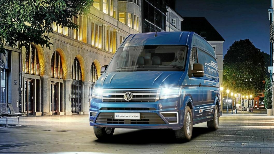 Volkswagen e-Crafter kommer for salg høsten 2018.