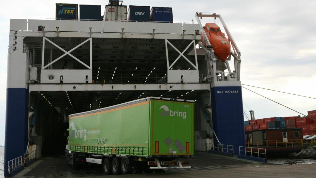 DFDS møter den sterke godsveksten sjøveien med nye ro-ro fraktferger. Foto: Per Dagfinn Wolden