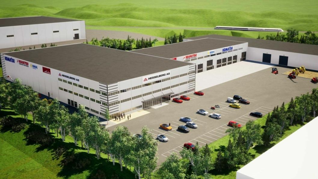 Bulk Infrastructure har både tomten og skal oppføre bygget for Hesselberg.