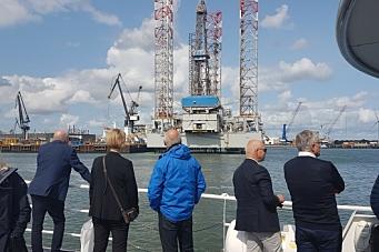 På besøk i Rotterdam havn