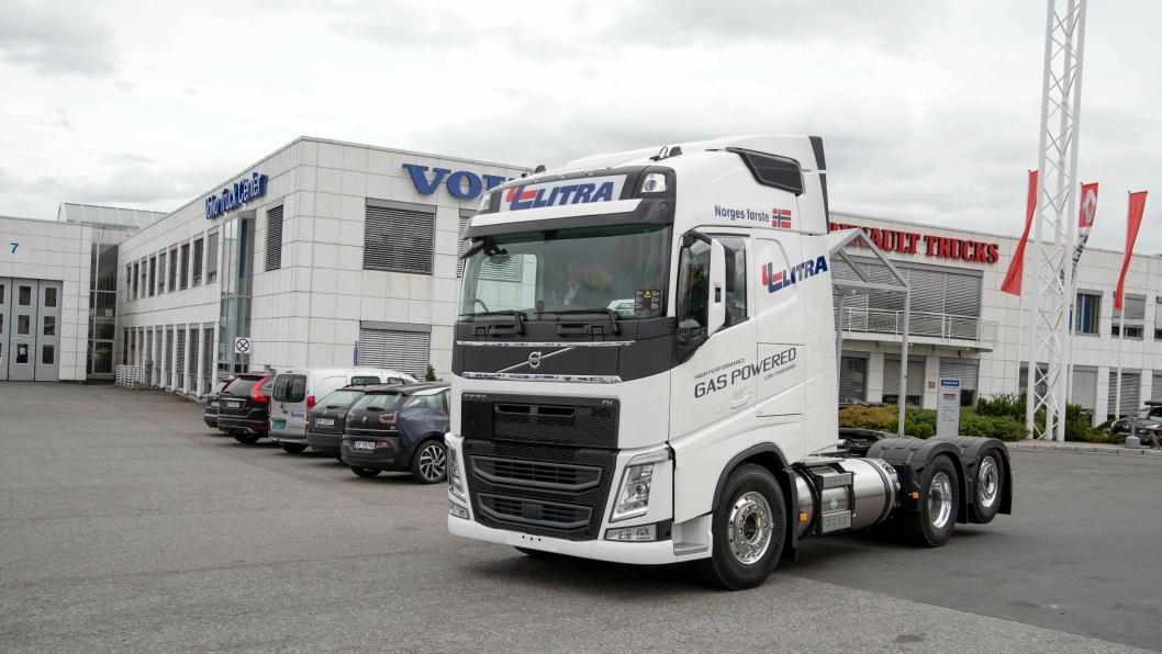 GRØN SATSING: Litra var i sommer først ute med Volvo FH med LNG- motor.