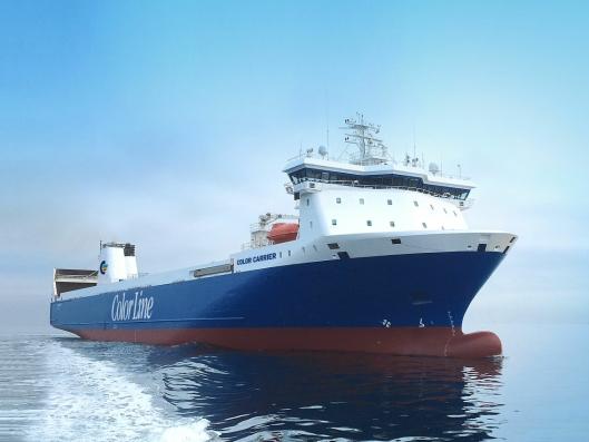 Color Line har investert i RoRo-skipet Color Carrier, som skal settes i trafikk mellom Oslo og Kiel fra 9. janur.
