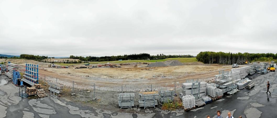 Anleggsarbeidene er i full gang på Lindeberg.