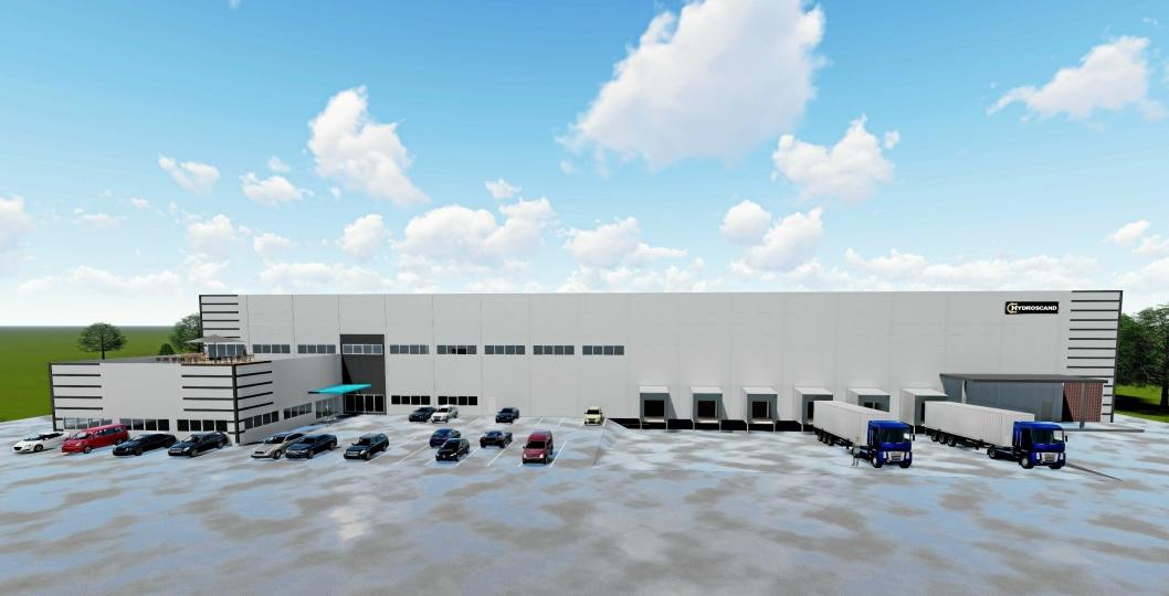 SLAGER OG RØR: Hydroscand flytter inn høsten 2020 i et bygg på 8700 kvadratmeter.