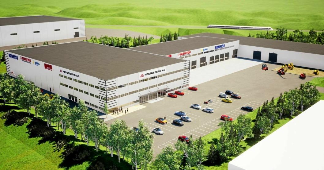 STORE: Sigurd Hesselberg AS skal flytte inn på et 16.000 kvadratmeter stort anlegg.